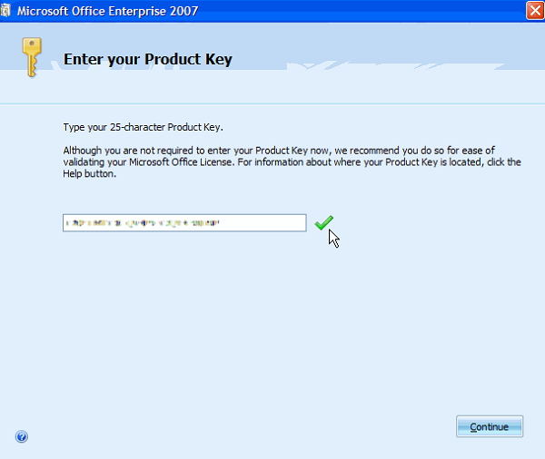Free Microsoft Office 2007 Product Key