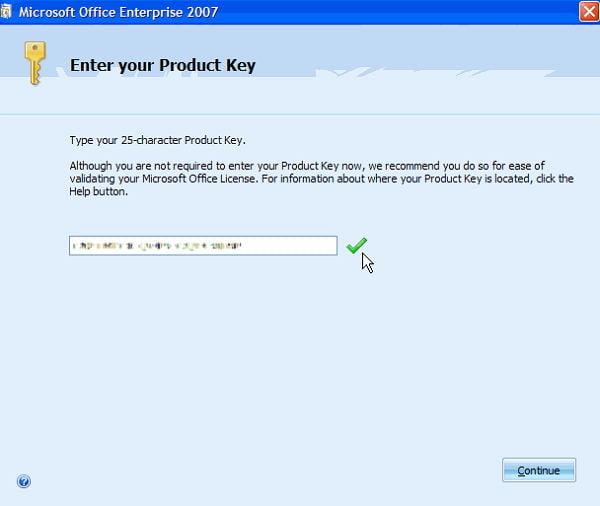 Free Microsoft Office 2007 Product Key