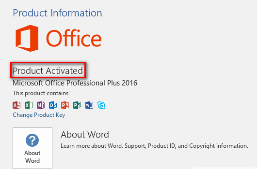 Free Microsoft Office 2016 Product Key 2019 100% Working