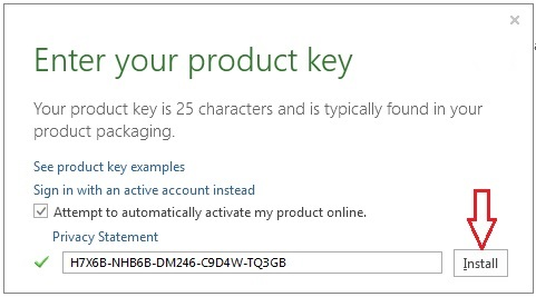 ms visio 2016 activation key