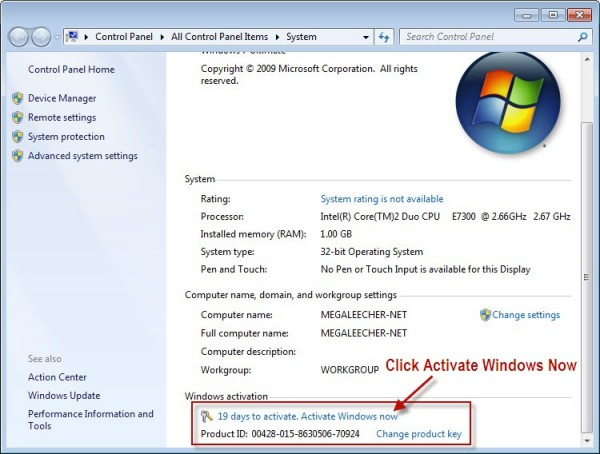 index of windows 7 activator