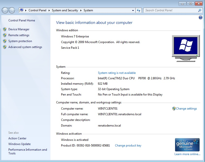 license key windows 7