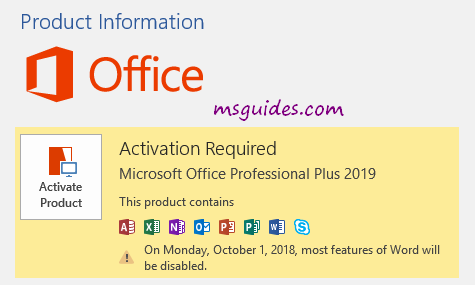 How to download and activate Microsoft Office 2019 without