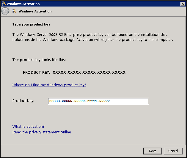 How to a Windows Server without product key