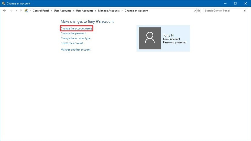 change-local-account-name-windows-10