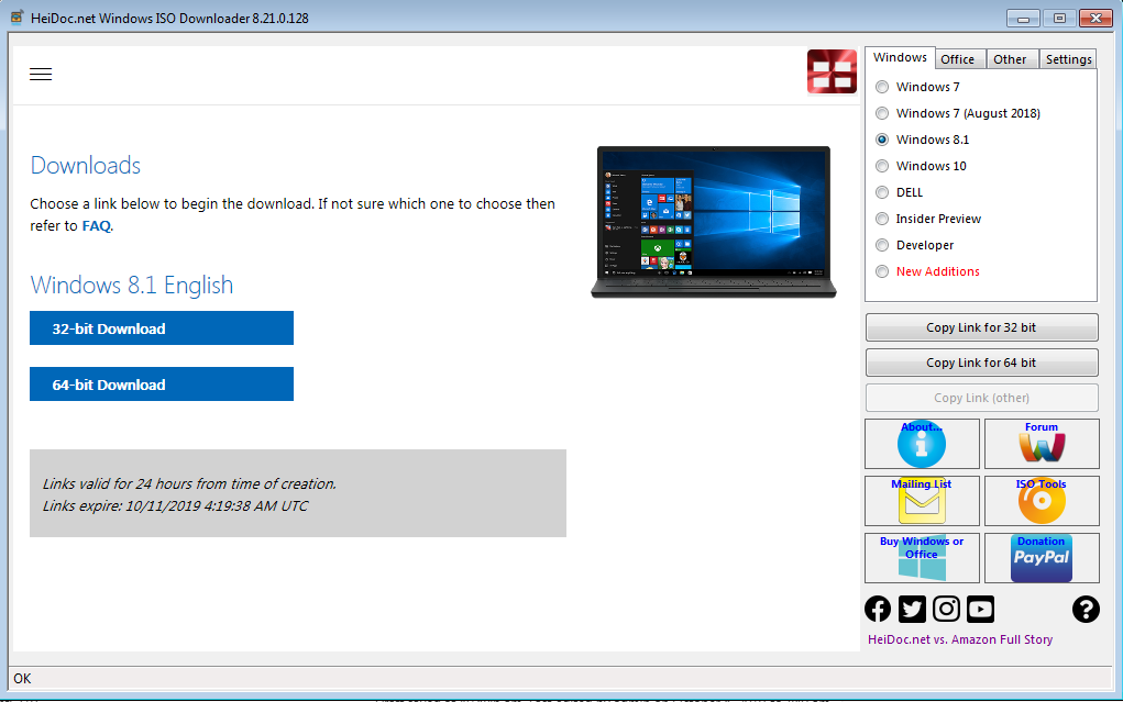 Link download Windows 8.1 ISO from Mircorosft