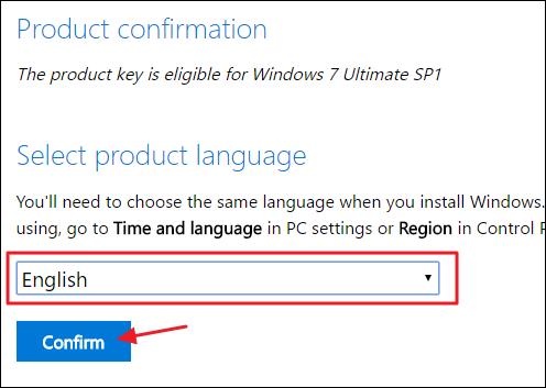 Windows 7 Languge