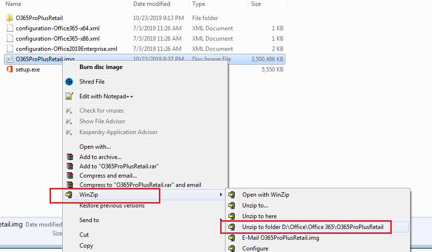 Extract Microsoft Office 365