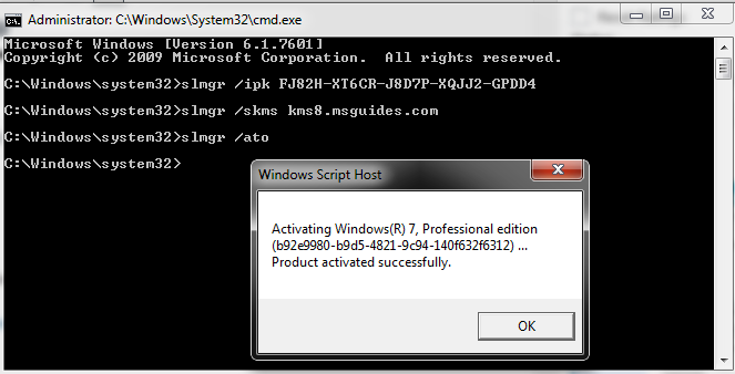 Activate Windows 7 professional