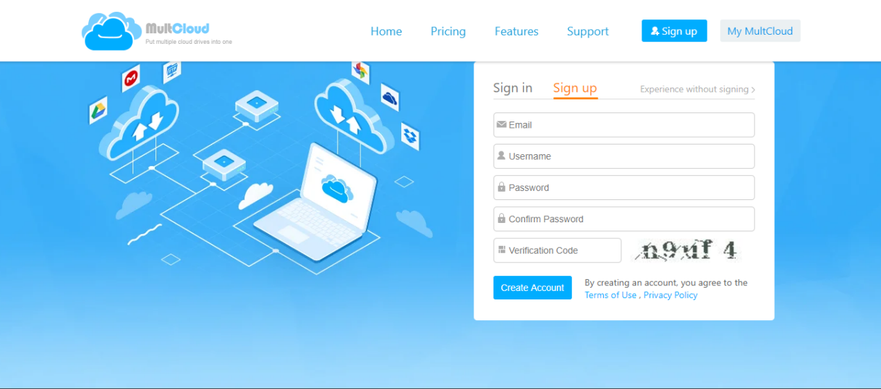 How to transfer data between cloud drives with MultCloud