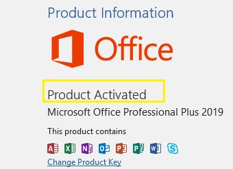 Microsoft Office 2019 Product Key Free 2021