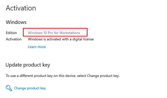 Windows 10 pro for workstations key