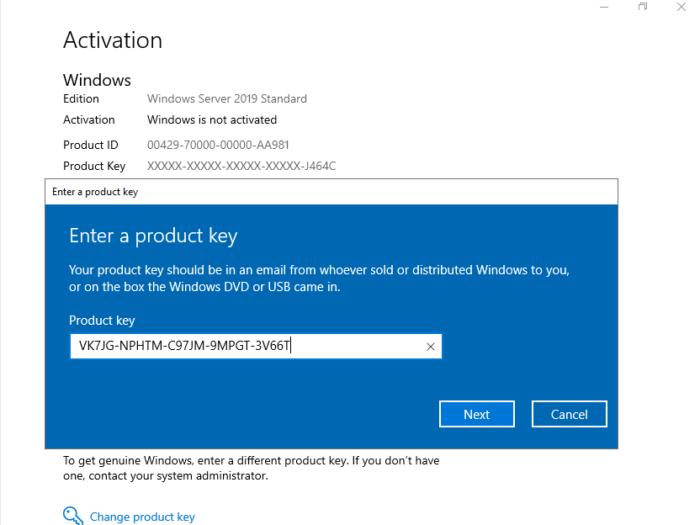 Free Windows Server 2019 Product Key