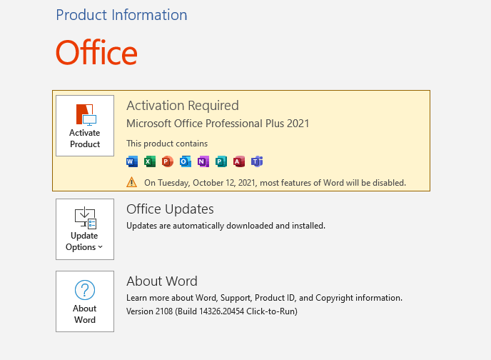 Download Microsoft Office 2021 trial version