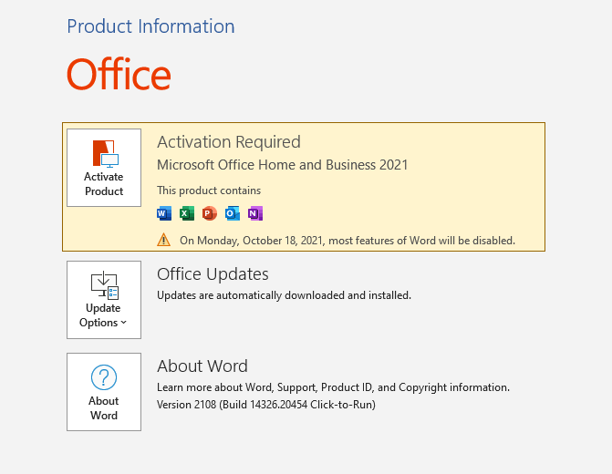Download Microsoft Office Home and Business 2021 for PC