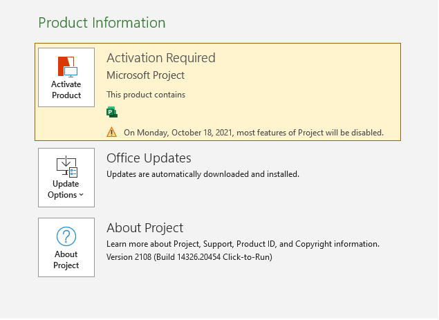 Download Project Professional 2021 from Microsoft